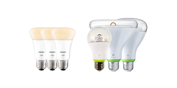 Philips Hue Lux and GE Link bulbs